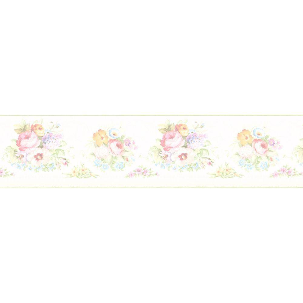 Victorian floral wallpaper border 414b61890 the home depot - Floral wallpaper home depot ...