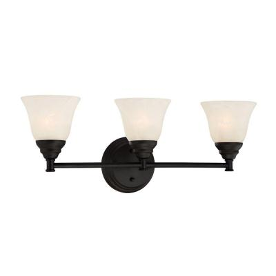 Kendall 3-Light Oil Rubbed Bronze Interior Incandescent Bath Vanity Light