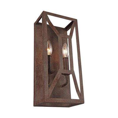 Marquelle 2-Light Weathered Iron Wall Sconce