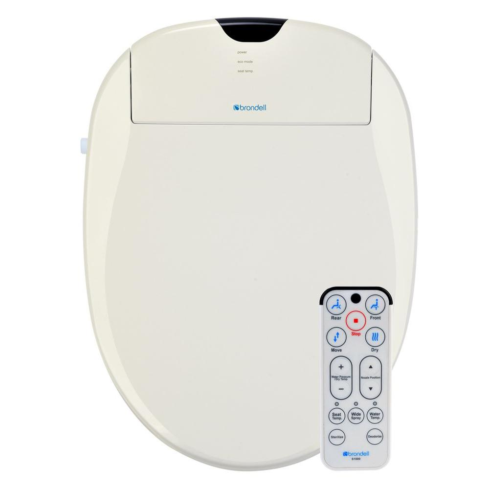 Brondell Swash 1000 Electric Bidet Seat for Elongated Toilet in Biscuit