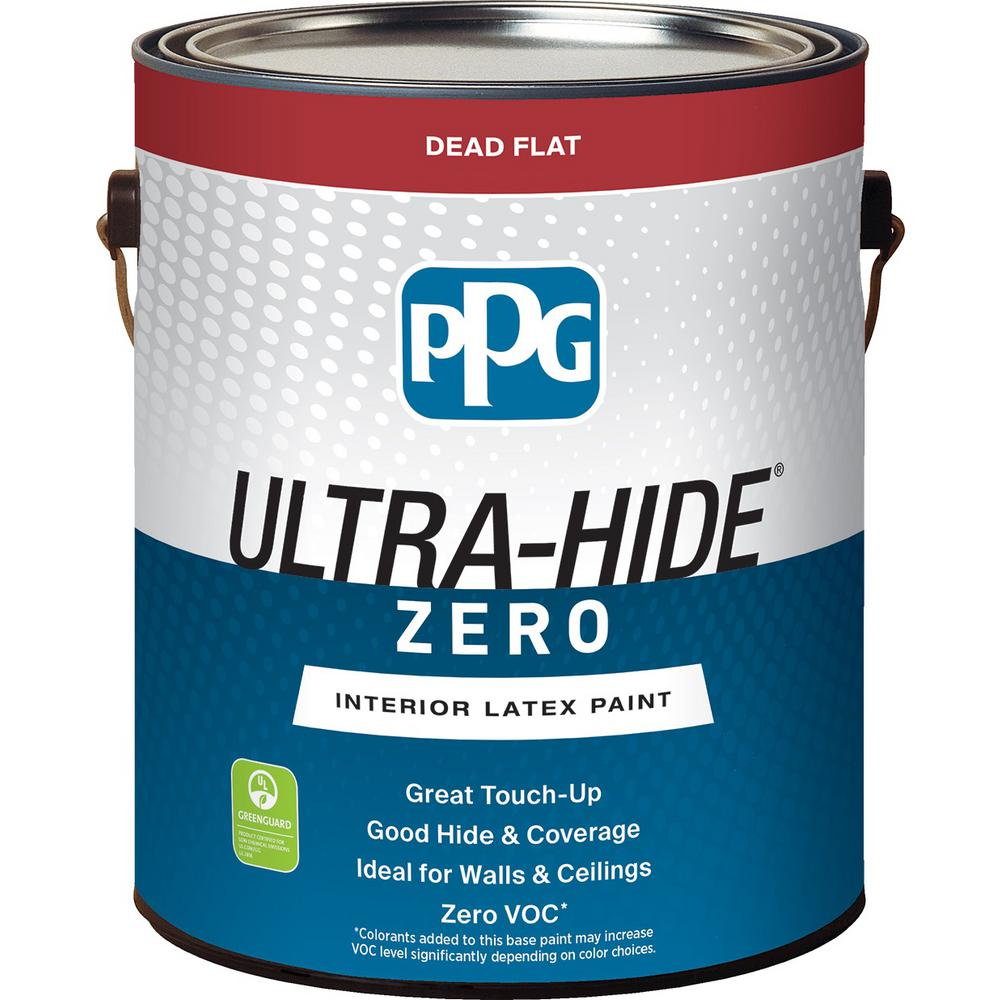 PPG 1 gal. #HDPCN65D Ultra-Hide Zero Onyx Black Flat Interior Paint ...