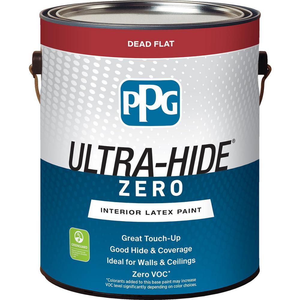 1 gal. #HDPCN65D Ultra-Hide Zero Onyx Black Flat Interior Paint