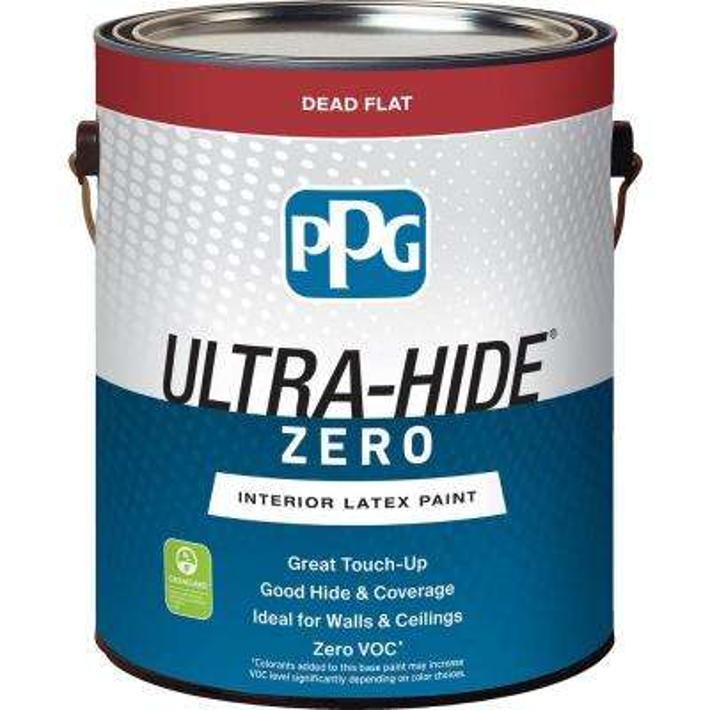 1 gal. #HDPWN30 Ultra-Hide Zero Parchment White Flat Interior Paint