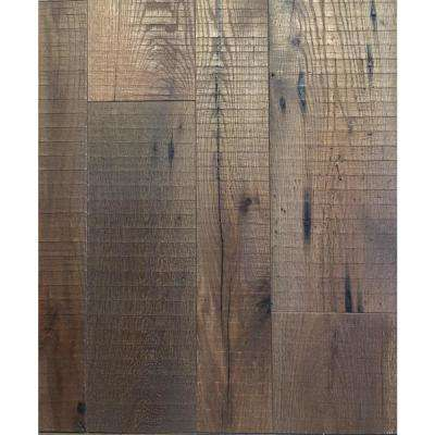Real Reclaimed Barnwood Oak Grayson County 1/2 in. T x 5 in. W x Varying L Engineered Hardwood Flooring (30 sq.ft./case)