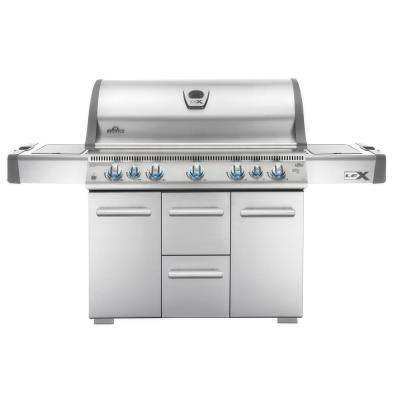 LEX 730 with Side Burner and Infrared Bottom and Rear Burners Propane Gas Grill in Stainless Steel