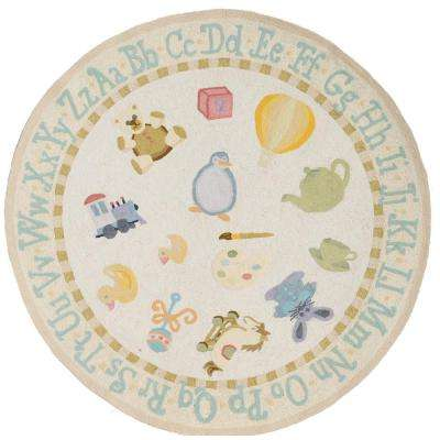 Lil Mo Classic Yellow 5 ft. Round Area Rug