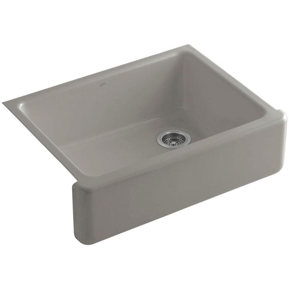 KOHLER Whitehaven Undermount Farmhouse Apron-Front Cast Iron 30 in. Single Bowl Kitchen Sink in Cashmere