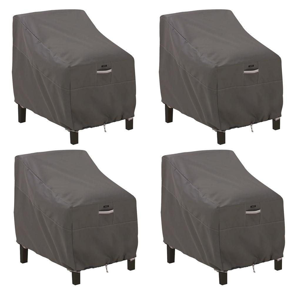 classic accessories ravenna dark taupe deep seated patio lounge rh homedepot com Deep Seating Sets Deep Seating Loveseat
