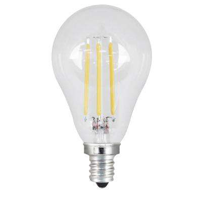 40W Equivalent Soft White A15 Dimmable Clear Filament LED Candelabra Base Light Bulb (Case of 24)