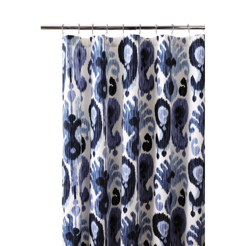 Still Water 72 in. L Indigo Shower Curtain