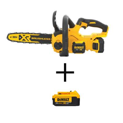 12 in. 20V MAX  Cordless Brushless Chainsaw w/ (1) 5.0Ah Battery, (1) 4.0Ah Battery, and Charger Included