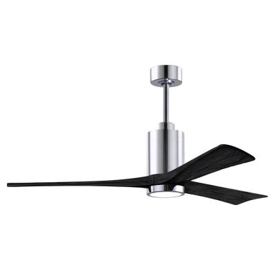 Patricia-3 60 in. Integrated LED Polished Chrome Ceiling Fan with Light Kit