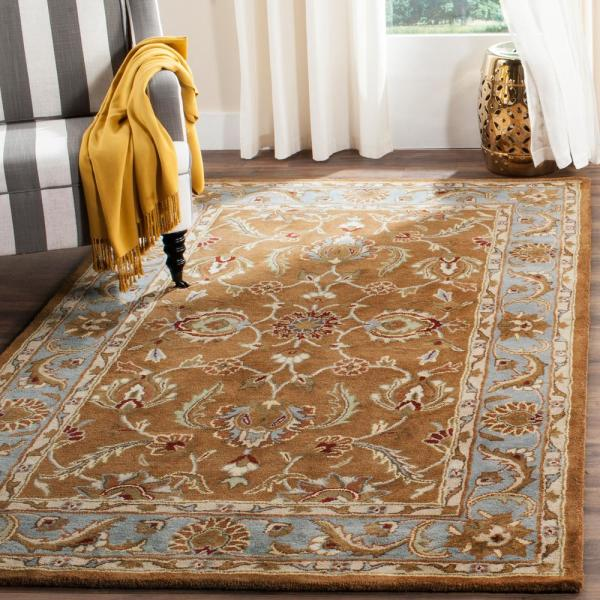 Safavieh Heritage Brown Blue 6 Ft X 9 Ft Area Rug Hg812a 6 The Home Depot