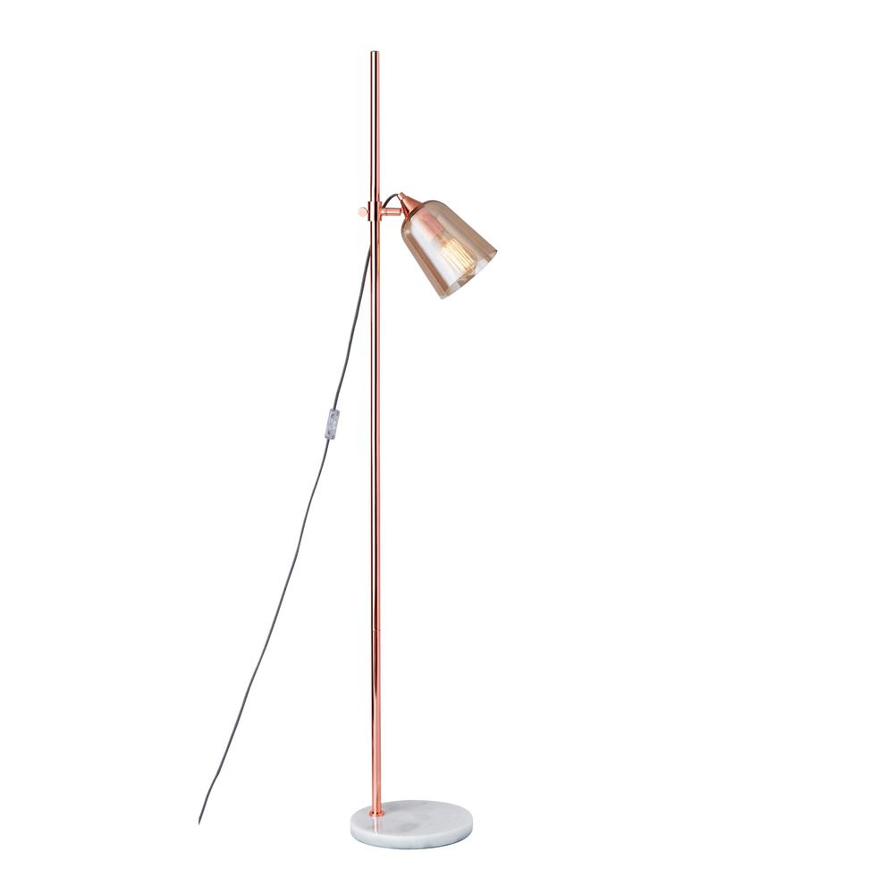 Adesso Marlon 6175 In Copper Floor Lamp 3843 20 The Home Depot