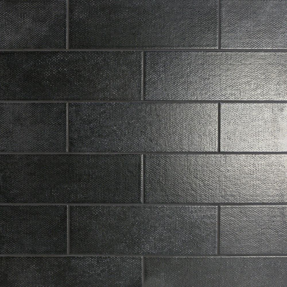 Ivy Hill Tile Piston Camp Black 4 In X 12 In 7mm Matte