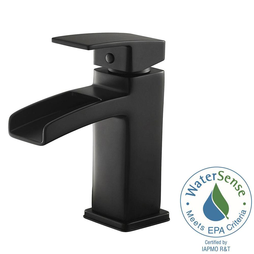 black bathroom faucets. Pfister Kenzo Single Hole Single-Handle Bathroom Faucet In Matte Black Faucets B