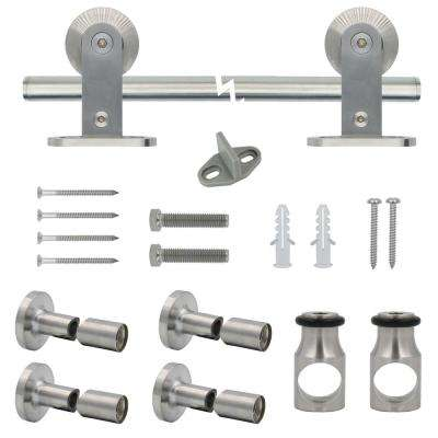 Stainless Steel Top Mount Decorative Sliding Door Hardware