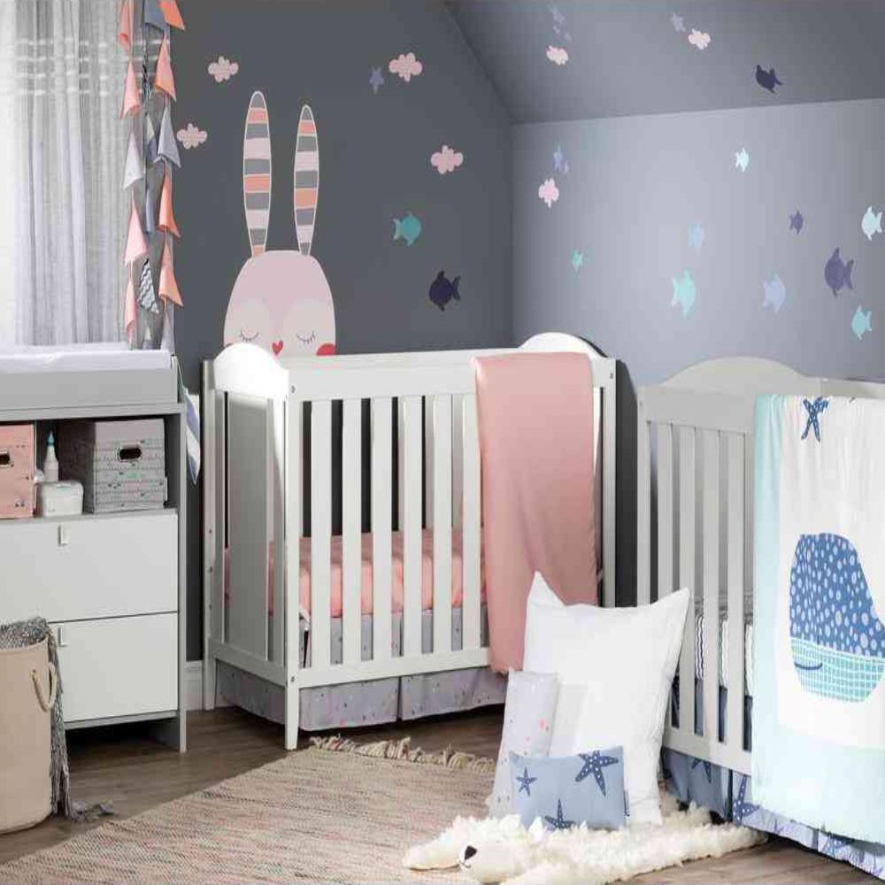 Dreamit 3-Piece Blue Geometric Polyester Crib Bedding Set