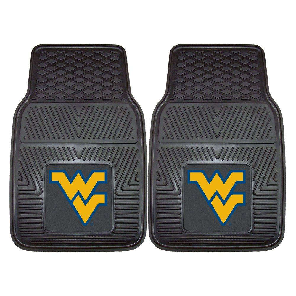 FANMATS West Virginia University 18 in. x 27 in. 2-Piece Heavy Duty Vinyl Car Mat