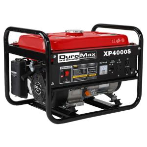 Click here to buy Duromax 4,000-Watt Air Cooled OHV Gasoline Powered Portable Generator by Duromax.