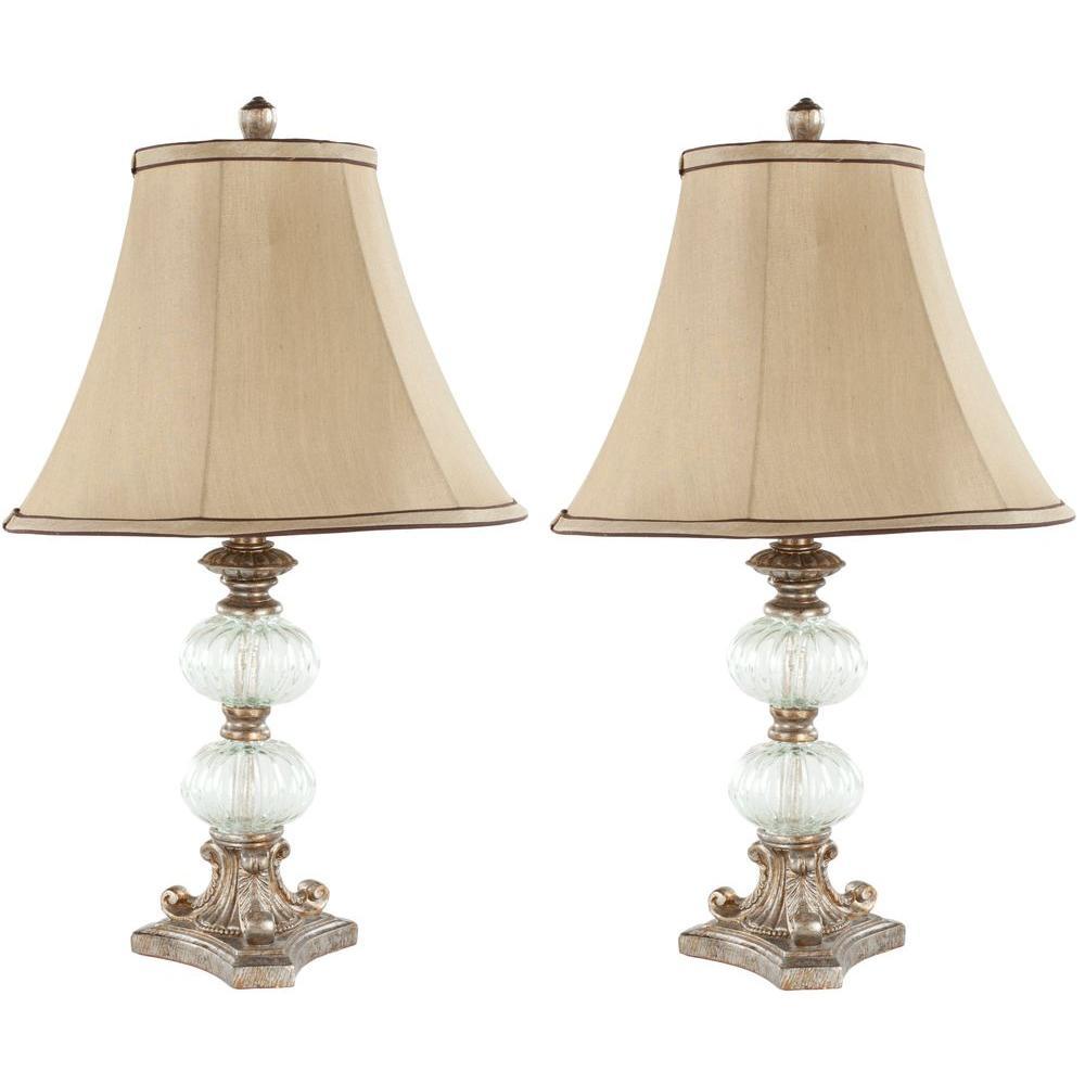 Safavieh Scarlett 24 in. Clear Glass Globe Table Lamp wit...