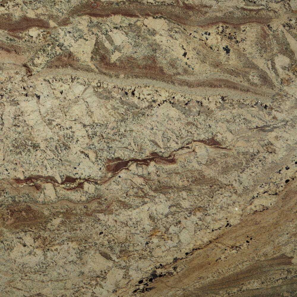 3 in. x 3 in. Granite Countertop Sample in Netuno Bordeaux
