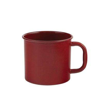 Linville 20 oz. Red Enamel Coffee Mug (Set of 4)