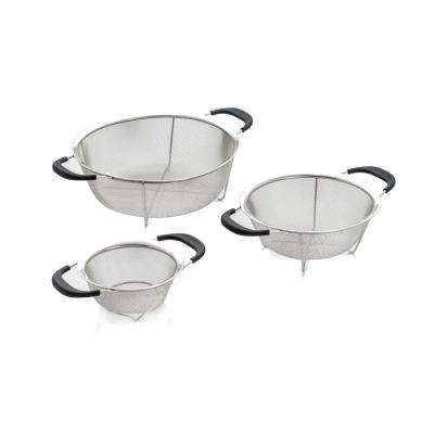 3-Piece Reinforced Stainless Steel Mesh Colanders Set