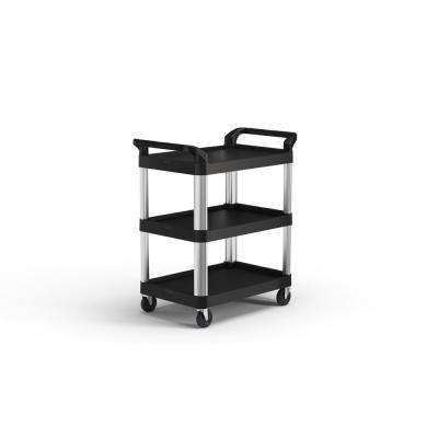 3-Shelf Plastic Wheeled Service Cart