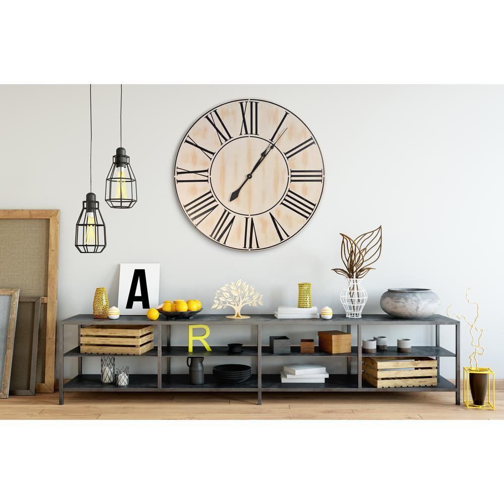 42 in. Oversized Alexander farmhouse wall clock