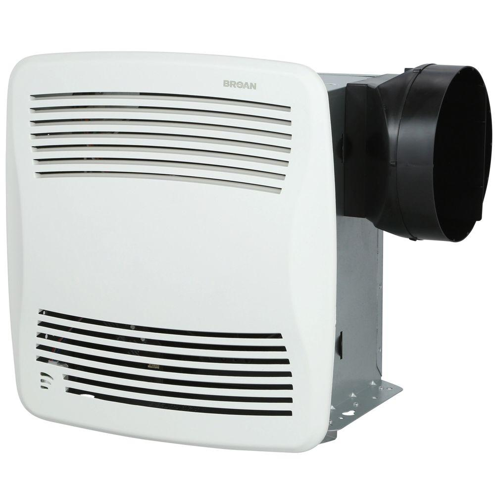 Broan-NuTone QT Series Very Quiet 110 CFM Ceiling Bathroom Exhaust Fan with Humidity Sensing, ENERGY STAR*