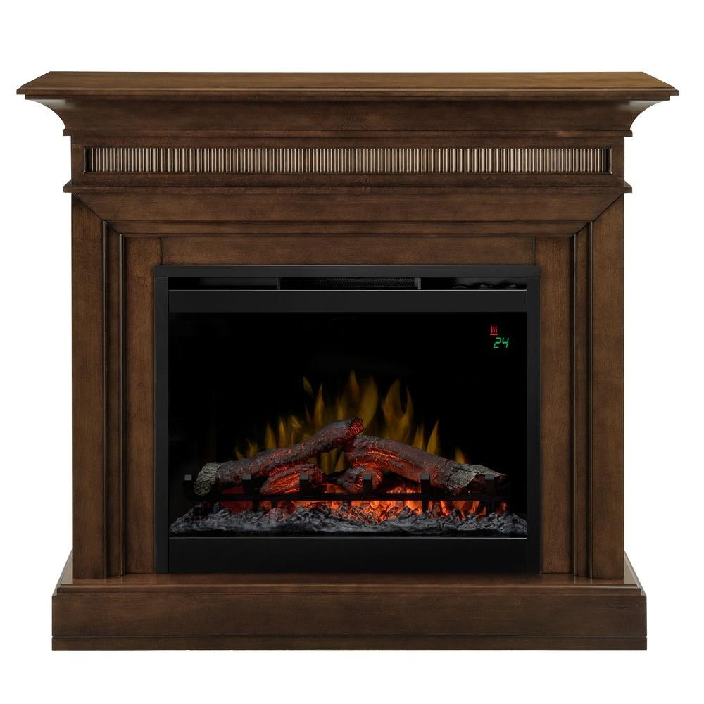 The timeless appeal of this warm walnut mantel will add instant ambiance to any setting. The fluted face and corner detailing adds just enough charm without taking away from the beautiful fireplace found