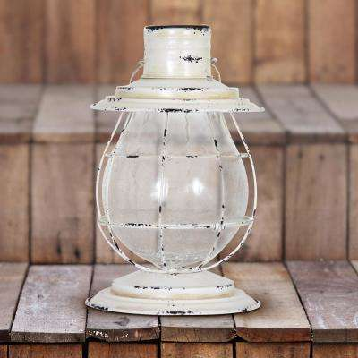 Solar Firefly Lantern Light with Base in White
