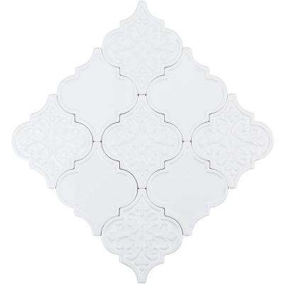 Vintage Lantern White 6-1/4 in. x 7-1/4 in. x 10 mm Ceramic Wall Mosaic Tile (30 pieces 4.8 sq.ft./Box)