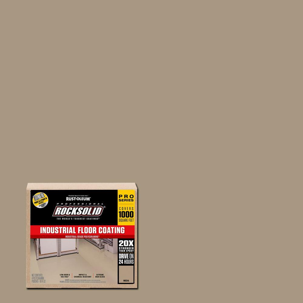 Rust Oleum Rocksolid 360 Oz Mocha Polycuramine Industrial Floor Coating