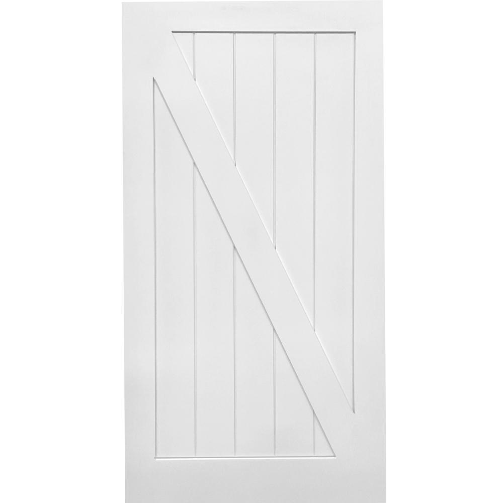 MMI Door 42 in. x 84 in. Z-Plank Primed MDF Interior Barn Door Slab was $389.48 now $269.0 (31.0% off)