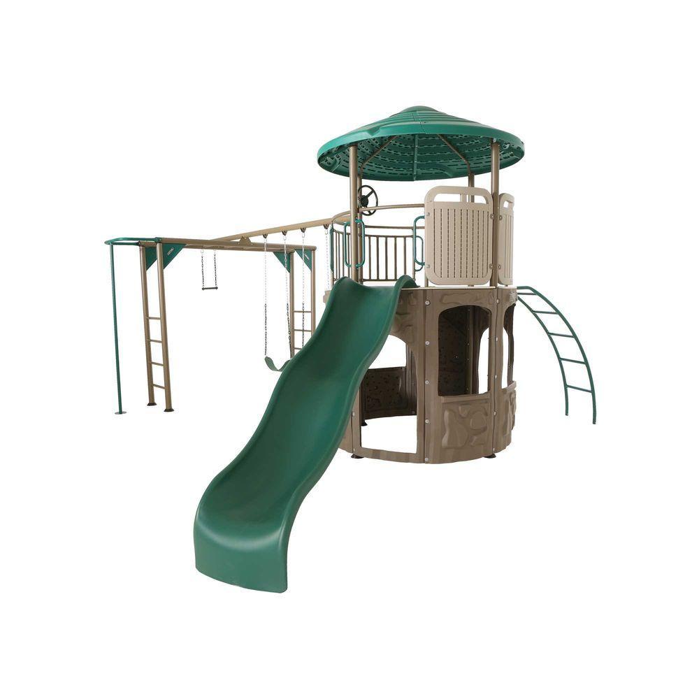 Lifetime Adventure Tower Deluxe Swing Set
