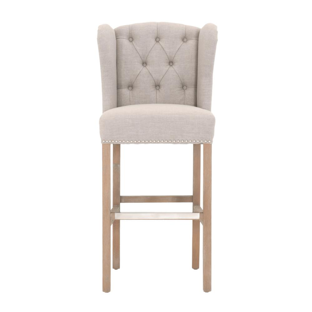 Home Decorators Collection Madelyn In Tan Cushioned Bar Stool In Stone Wash 1641010880