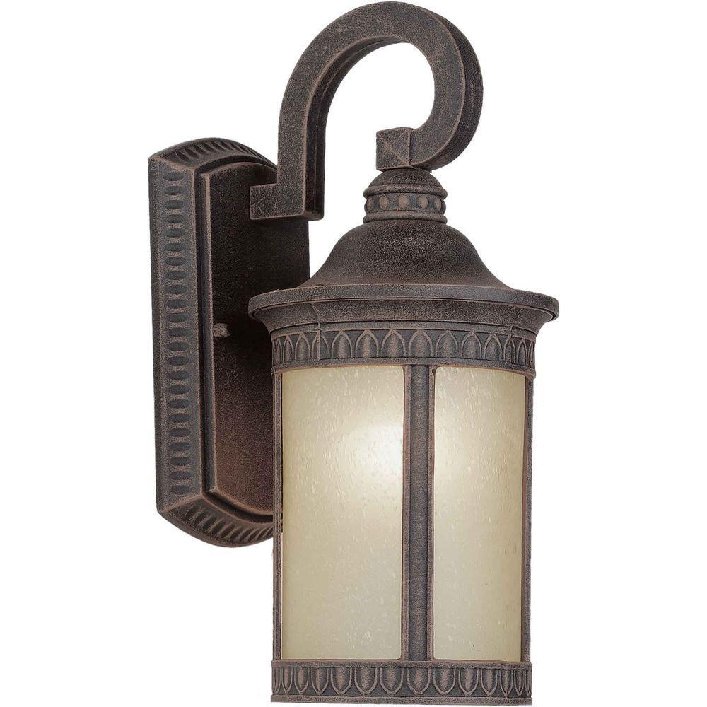 Talista Burton 1-Light Painted Rust Outdoor Halogen Wall Mount Light