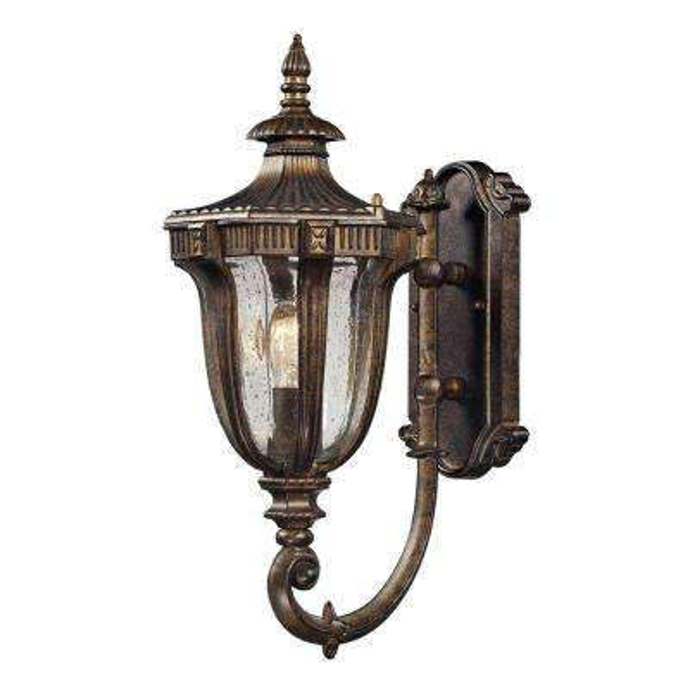 Sturgess Castle 1-Light Outdoor Regal Bronze Sconce