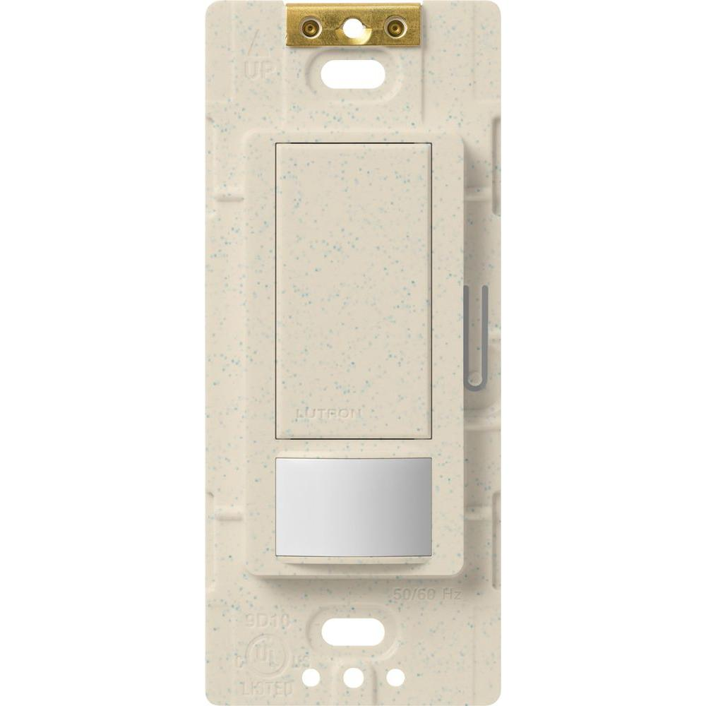 Lutron Maestro Motion Sensor switch, 5-Amp, Single-Pole or Multi-Location,  Limestone