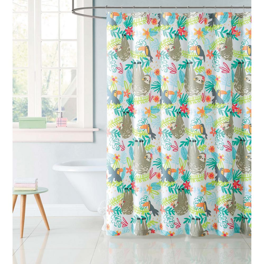 Multi Hanging Out Shower Curtain