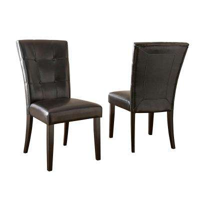 Monarch Black Parsons Chair (Set of 2)