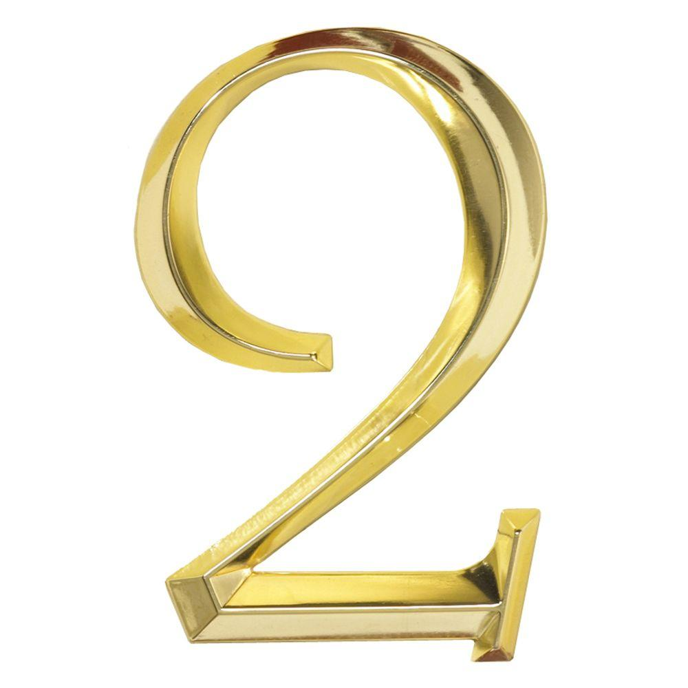 Whitehall Products Classic 6 in. Polished Brass Number 2 ...
