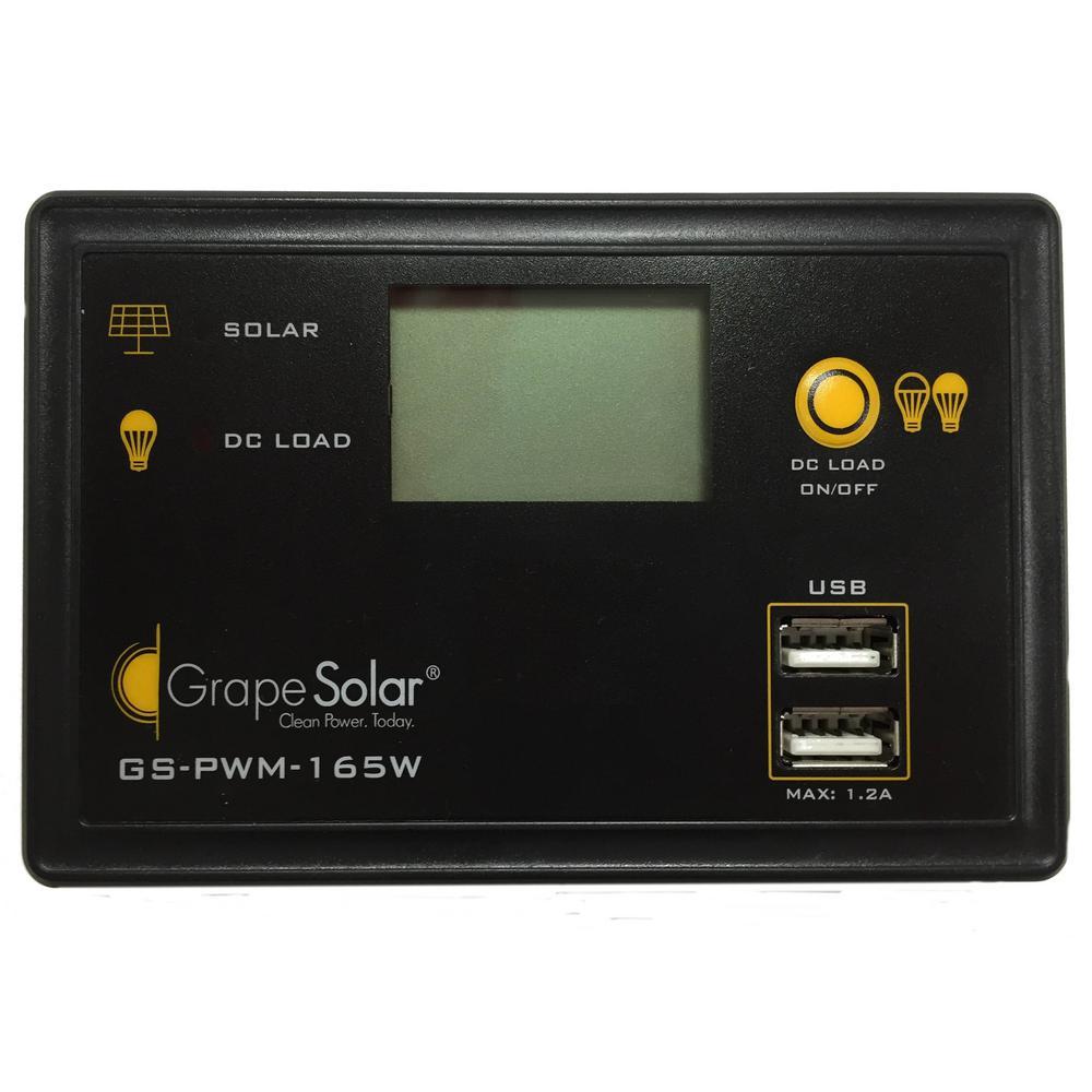 Grape Solar 165-Watt Flush Mount PWM Solar Charge Controller by Grape Solar
