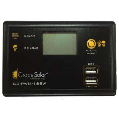 165-Watt Flush Mount PWM Solar Charge Controller