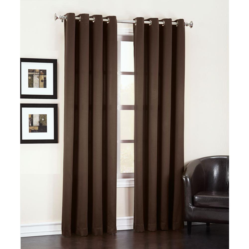 Gregory Room Darkening Grommet Top Curtain Panel