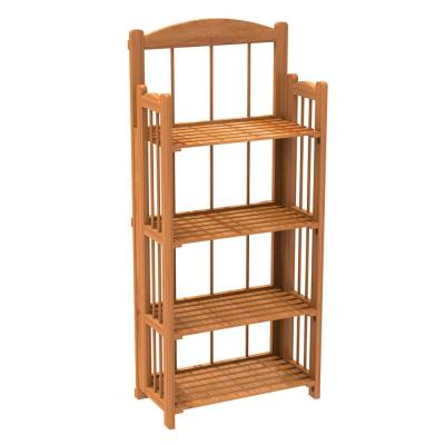 45 in. Cedar Wood 4-shelf Accent Bookcase with Open Back