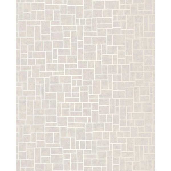 Brewster Etude Light Grey Geometric Wallpaper Sample 2683-23022SAM