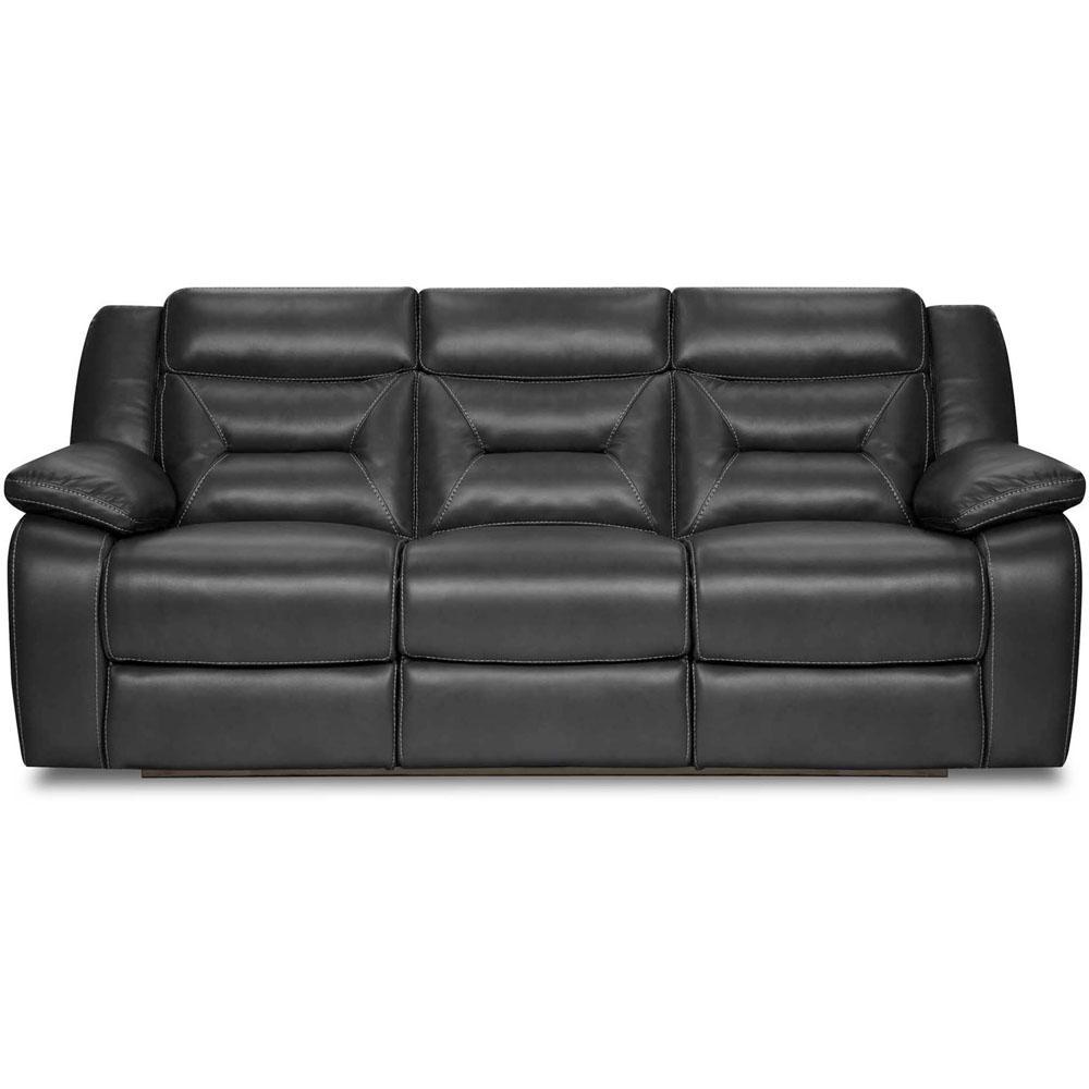 High Quality Alpine Black Double Reclining Sofa